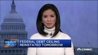 Federal debt ceiling reinstates at midnight