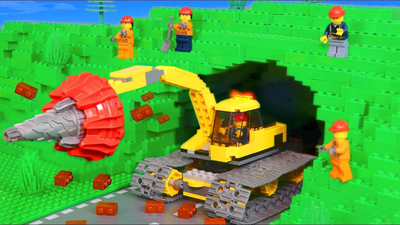 Tunnel Construction with Excavator & other Toy Vehicles for Kids