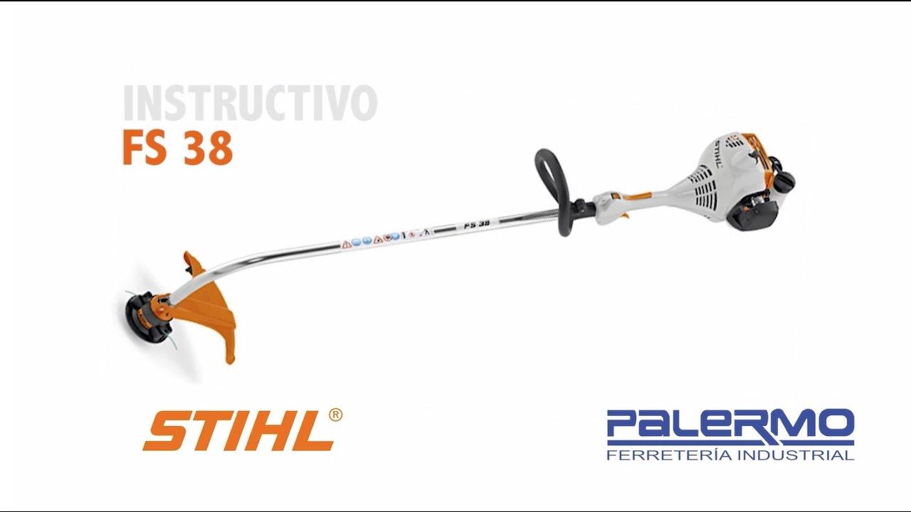 Instructivo / Tutorial de motoguadaña STIHL FS 38 - Ferreteria Palermo
