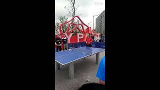 🏓 DING Ning - Table Tennis Event at the Tianfu Greenway | 2018 Women's World Cup | Fancam #3