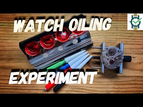 Watch Oiling (Experiment) - No Oil,  Correct,  Too Much.