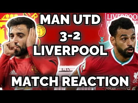 BRUNO FINISHES LIVERPOOL! MANCHESTER UNITED 3-2 LIVERPOOL   INSTANT MATCH REACTION