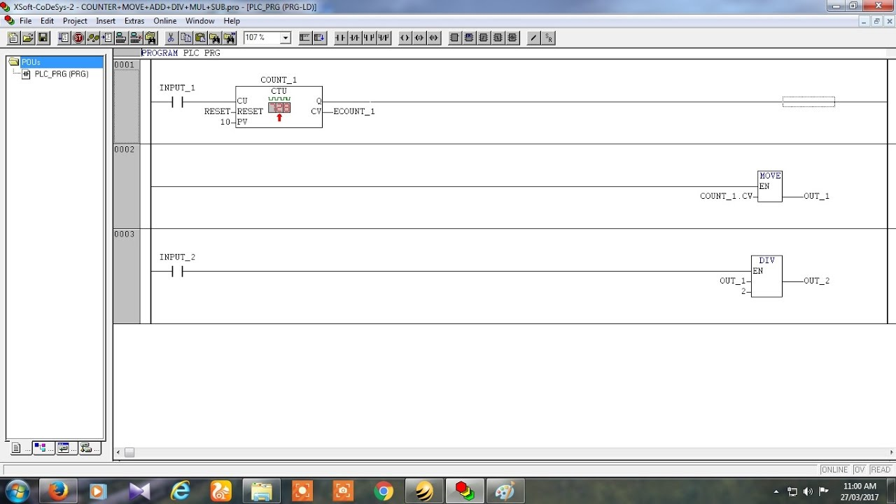 How to use Timer with Mov and math block in codesys software in Mitsubishi  PLC
