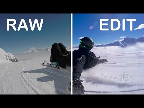 2K RAW vs. EDIT GoPro Footage Ski | HERO 4 Black & Feiyu-Tech G4