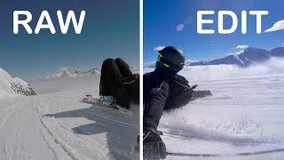 2K RAW vs. EDIT GoPro Footage Ski | HERO 4 Black & Feiyu-Tech G4