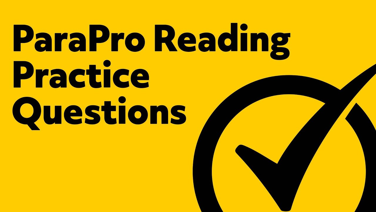 Free parapro reading practice test youtube.