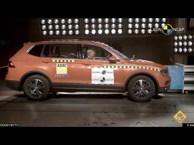 Volkswagen Tiguan 6 airbags passa bem no teste Latinn Cap
