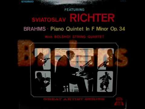 Brahms / Sviatoslav Richter, Borodin Quartet, 1958: Quintet in F minor, Op. 34 - Complete