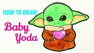 How To Draw So Cute Baby Yoda Herunterladen