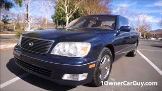 For Sale 1999 Lexus LS400 Luxury Sedan Exterior Used Car Video Review