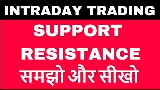 Intraday trading in hindi - Support/Resistance को समझे?