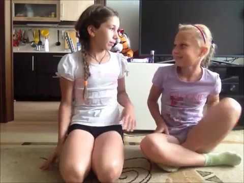 челендж гимнастика vs обычной еды видео с сестрой