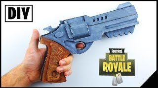 DIY HOW TO MAKE FORTNITE'S NEW REVLVER *IN REAL LIFE* - Dcrafting