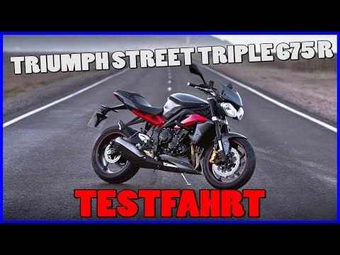 TRIUMPH STREET TRIPLE 675 R TEST | 0-100 KM/H | 48PS | Walkaround | Sluty