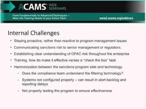 Managing an Effective OFAC Compliance Program