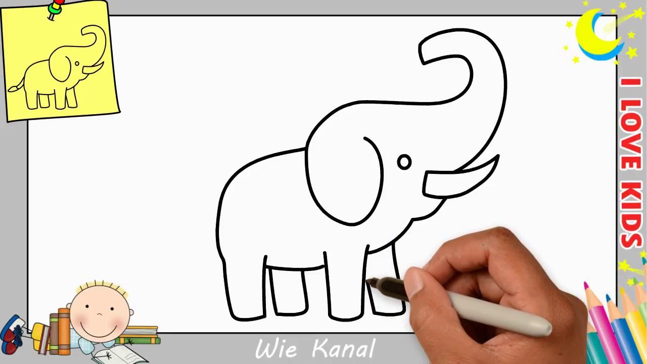 Elefant Zeichnen Lernen Einfach Schritt Fur Schritt Fur Anfanger