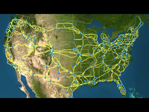 Map Of US Long-haul Fiber-optic Cable Network