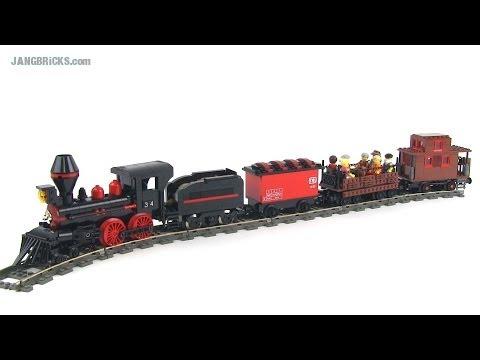 LEGO MOC: Steam train version 1, 4-4-0 locomotive