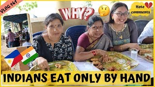 WHY INDIANS EAT ONLY BY HAND II Filipino Indian Family Vlog # 141 Video