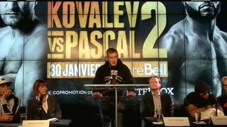 Kovalev vs. Pascal Press Conference LIVE from Montreal