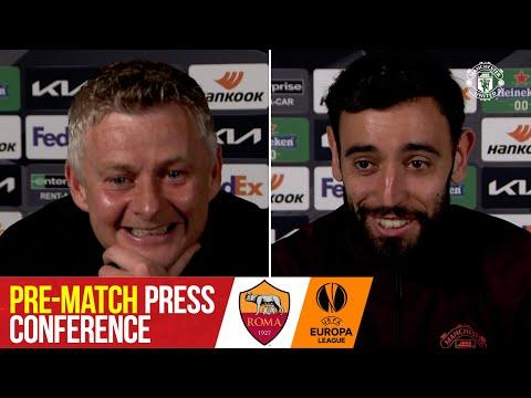 Pre-Match Press Conference | AS Roma v Manchester United | Ole Gunnar Solskjaer & Bruno Fernandes
