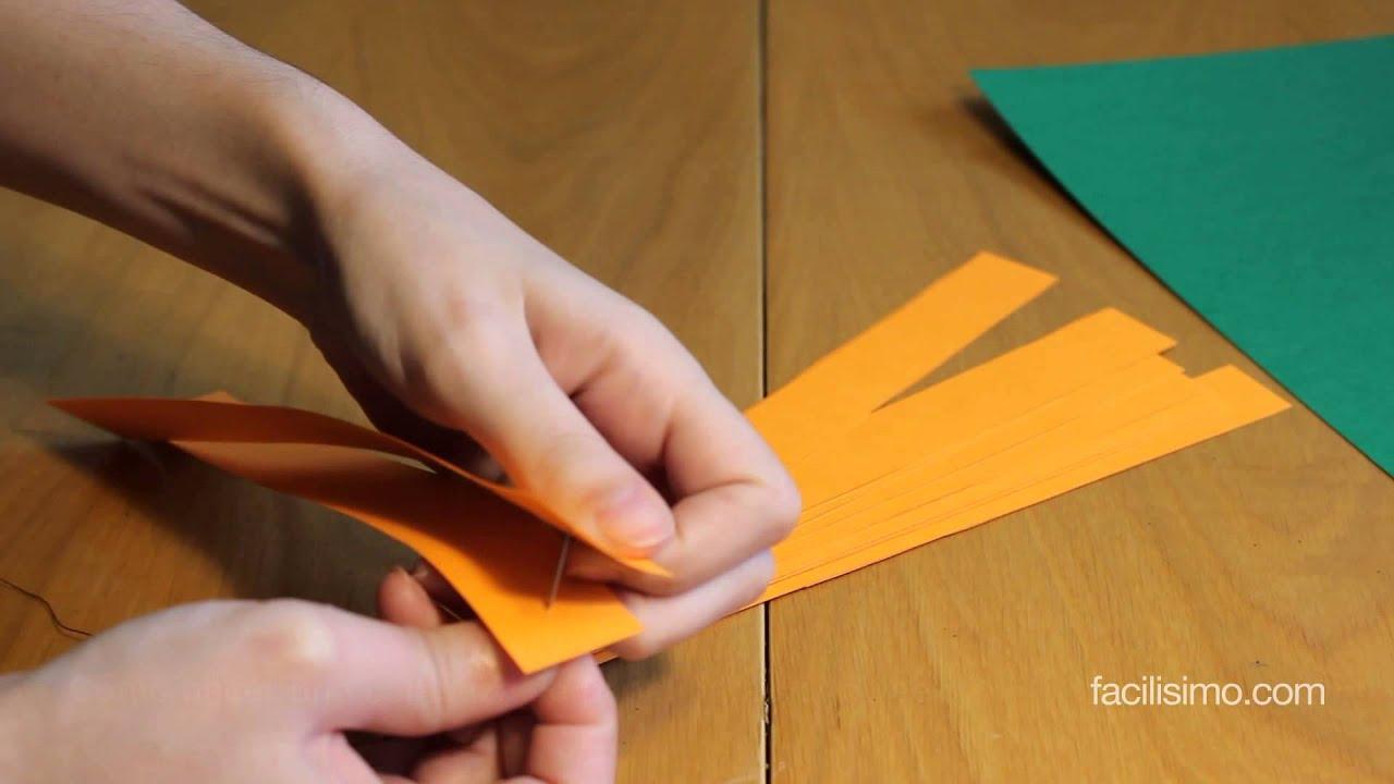 C mo hacer una calabaza de papel para halloween - Calabazas de halloween manualidades ...