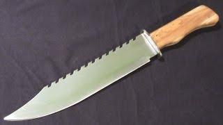 Making a Big Tactical Knife +Test ( D2 steel )