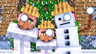 Snowman & Villager Life: FULL ANIMATION - Minecraft Animation