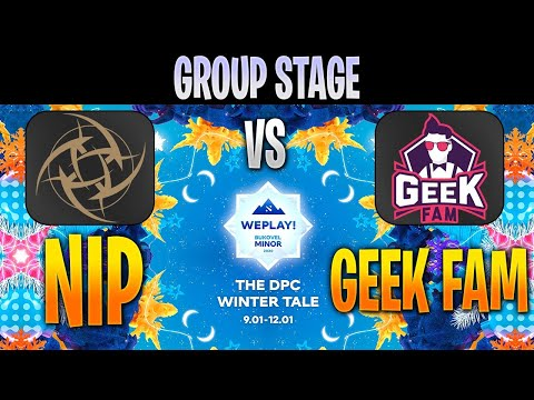 NiP Vs Geek Fam | Bo3 | Group Stage WePlay! Bukovel Minor 2020 LIVE | NO CASTER | Dota 2 Pro