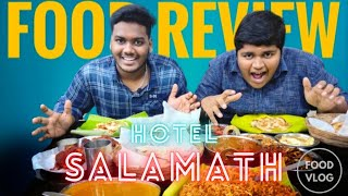 Best Mutta Chutney Food Review Hotel Salamath Dr SKR Vlogs