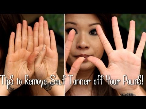Removing Self Tanner From Your Hands Youtube