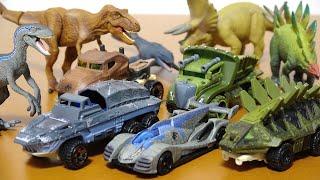 ホットウィール ジュラシックワールド 恐竜のミニカー T-REX ブルー モ...