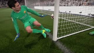FIFA 17  Вратарь забил гол с ноги в свои ворота!!!