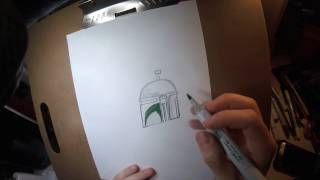 Quick Boba Fett drawing by Seth Groves