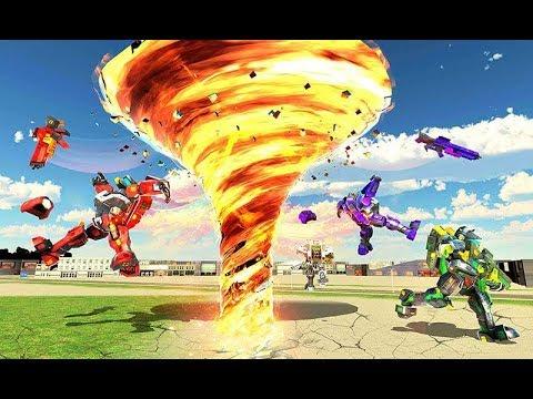 Tornado Robot Transforming: Future Robot Wars | Android Gameplay (Cartoon Games Network)