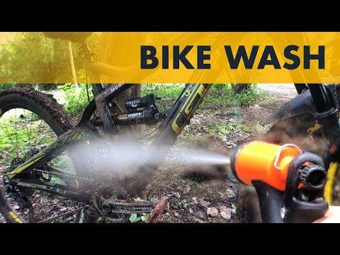 Quick Bike Wash using Jet/Power Wash