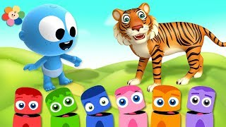 Learn Colors With Wild Animals For Children & Babies | Fun With GooGoo Baby & My Color Friends