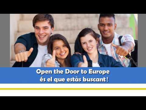 Open the door to Europe. Catalan version