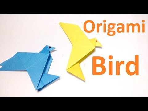 Origami Flapping Birdeasy Paper Flapping Bird Making Instructions