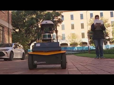 Smart robots travel UT Austin campus delivering free lemonade