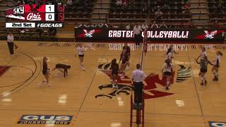 EWU Volleyball Highlights vs. Montana (Sept. 21).