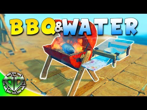 BBQ AND LARGE WATER PURIFIER : Raft Gameplay : PC Early Access