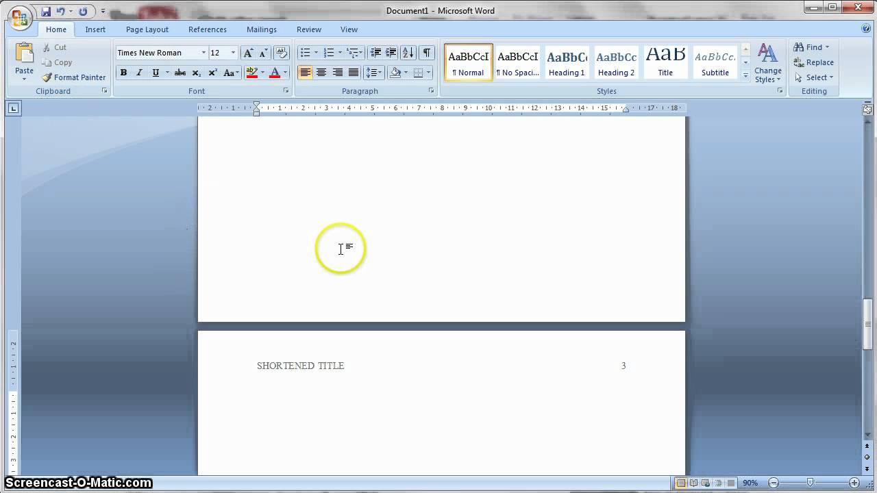 formatting apa in word