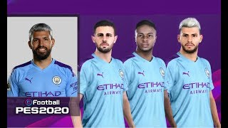 eFootball PES 2020 Manchester City Faces & Overalls | PS4