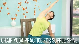 Chair yoga practice for supple spine