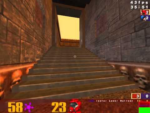 Quake 3 Rocket Arena - intricate steps between vs Clan MTK - ra3map1 - broadway! POV
