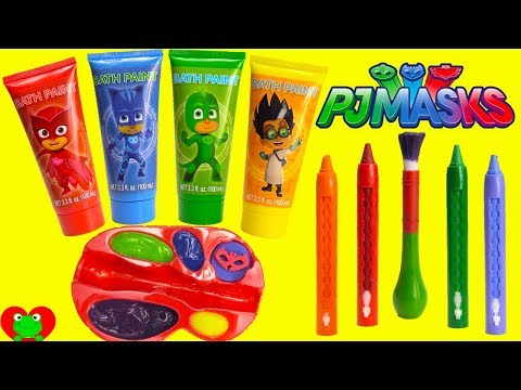 Preschool Learn Colors with PJ Masks Paints Catboy, Owlette, and Gekko