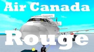 ROBLOX | Air Canada Rouge Flight