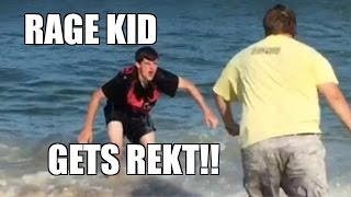 ATTITUDE ADJUSTMENT into the OCEAN on RAGING KID Destroying WWE TOYS