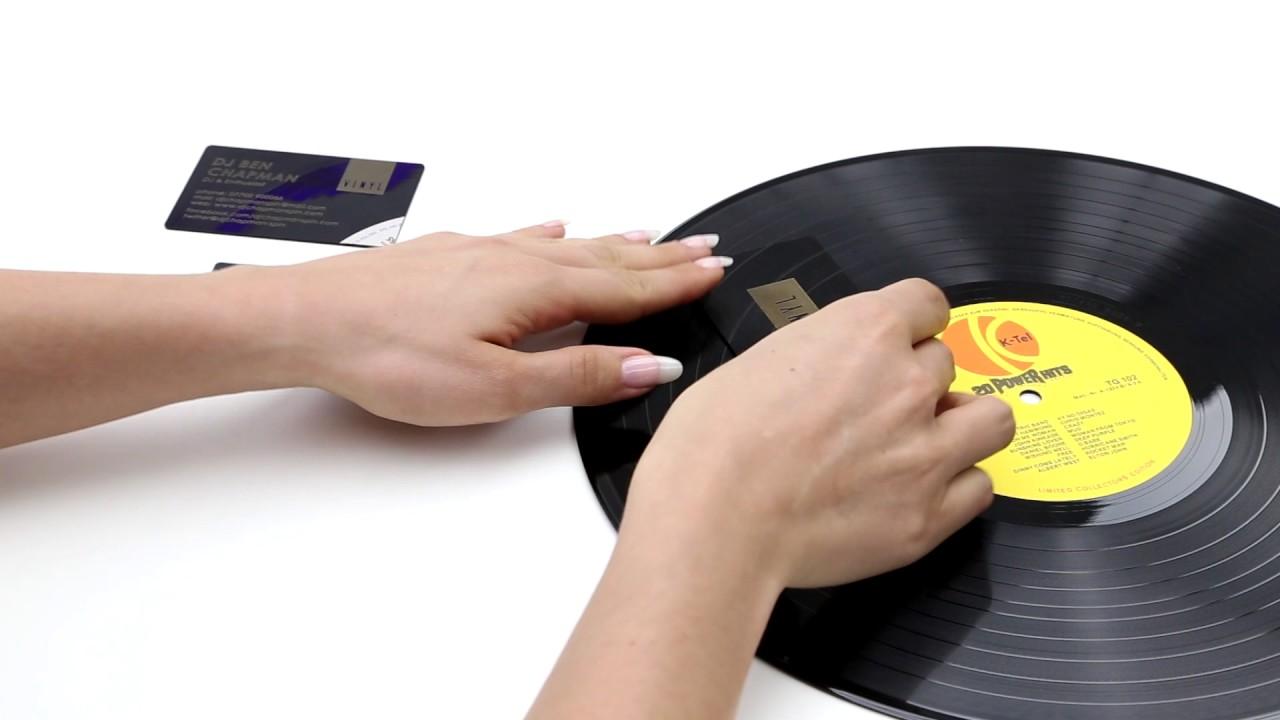 Exklusive Visitenkarten Aus Vinyl Bei Printcarrier Com